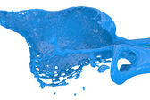Blue paint splashing — Stock Photo