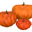 Stock Photo: Three halloween pumpkins