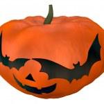 Halloween pumpkin with spooky face — Stock Photo