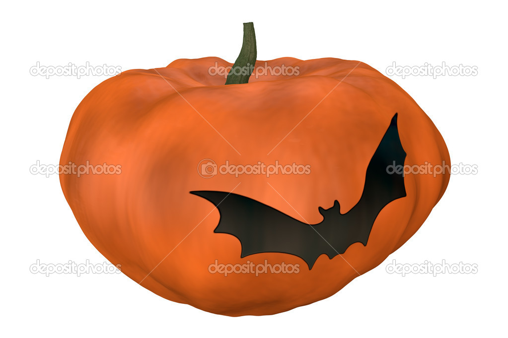 High quality rendering of orange halloween pumpkin — Stock Photo #6742828