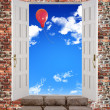Stock Photo: Door is open to sky