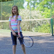 Royalty-Free Stock Photo: Teenage girl playing tennis