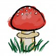 Toadstool — Stock Vector #5895190