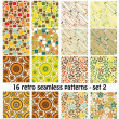Stok Vektör: Retro patterns