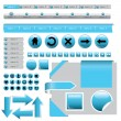 Website desing elements - Stock Vector