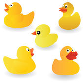 Rubber duck — Vector de stock