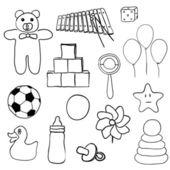 Conjunto de juguetes — Vector de stock