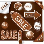 Brown sale — Stock Vector