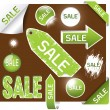 Stock Vector: Sale labels