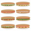 Stock Vector: Sandwich