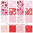 Stock Vector: Hearts pattern