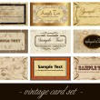Vintage card — Vector de stock #6128076