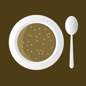 Lentil soup — Stock Vector