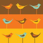 Birds pattern — Stock Vector