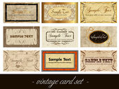 Vintage card — Vetorial Stock