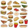 Fast food — Stockvector #6212350