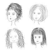 Four women — Stock Vector