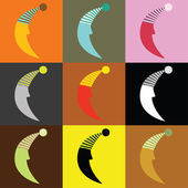 Nine moons — Vector de stock