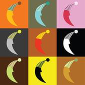 九个月亮 — 图库矢量图片