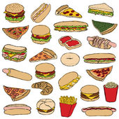 Fast food — Stockvector