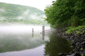Fog over the river — Stock Photo