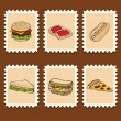 Fast food stamps — Vector de stock #6243555