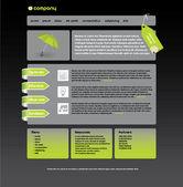 Web sitesi tasarımı — Stok Vektör