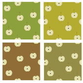 Apple pattern — Vettoriale Stock
