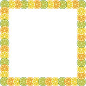 Fruits frame — Stock Vector
