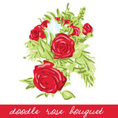 Rose bouqet — Stock Vector