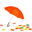 Stock Vector: Orange umbrella