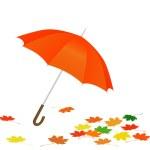 Orange umbrella — Stock Vector