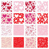 Hearts patterns — Stock Vector