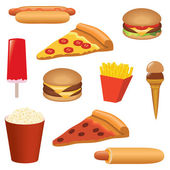 Fast food set — Stockvector