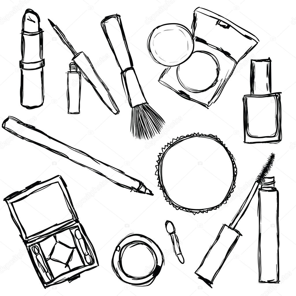Cosmetic Colouring Pages page 2