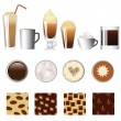 Vector de stock : Coffee set