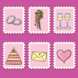 Royalty-Free Stock Imagen vectorial: Wedding set