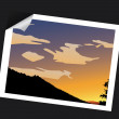Sunset photo — Stock Vector