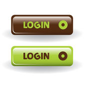Login buttons — Stock Vector