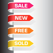 Sale labels — Vector de stock