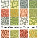 Retro patterns — Stock Vector