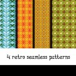 Retro patterns — Imagen vectorial