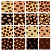 Coffee patterns — Stock Vector