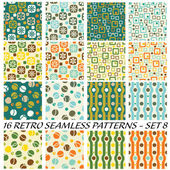 Retro patterns — Vetorial Stock