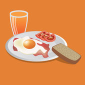 Tasty breakfast — Vector de stock