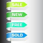 Etiquetas de venta — Vector de stock