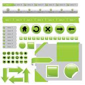 Elementi del sito web — Vettoriale Stock