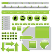 Prvky webové stránky — Stock vektor
