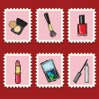Stock Vector: Stamps collection