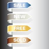 Etichette in vendita — Vettoriale Stock